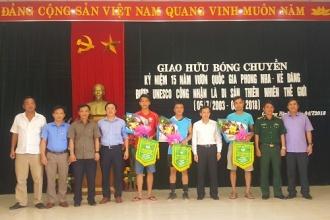 VQG Phong Nha – Kẻ Bàng tổ chức thành công giải bóng chuyền nam kỷ niệm 15 năm UNESCO công nhận Di sản thiên nhiên thế giới